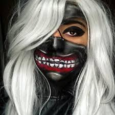 tokyo ghoul kaneki character mask makeup facepaint by mua jasmin johnston
