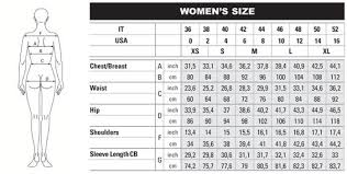 Womens Body Chart Size Chart Vyrtkal