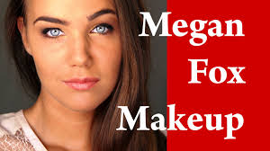 megan fox makeup tutorial makeover transformation with contouring eyebrows and eyeliner