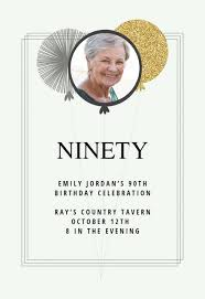90 Birthday Party Invitations 90th Birthday Invitation Templates Free Greetings Island