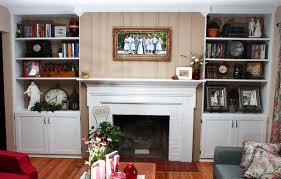 Fancy Fireplace Custom Built In Cabinets