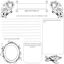 guest book template free wedding dress design 18 remarkable wedding guest book pages picture