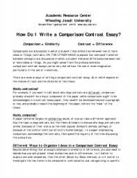 a comparison and contrast essay examples how to write essay  high school cover letter compare and contrast essay examples college contrast cover letter a comparison