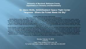 Dr. Glenn Wolfe - Department of Chemistry & Biochemistry - UMBC