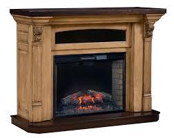 Tv Stand  Fascinating Amish Cascadia Corner Electric Fireplace Tv Amish Electric Fireplace