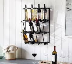 wine glass rack pottery barn. Delighful Pottery Vintage Blacksmith Wall Wine Rack  In Glass Pottery Barn