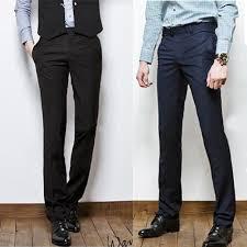 Pants In Us 14 67 49 Off Mens Dress Pants Slim Fit Business Suit Pants Male Formal Pantalon Office Pants Men Popular Straight Pants In Suit Pants From Mens