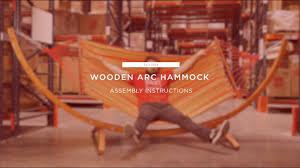 assembly wooden arc hammock sky1904 best choice s