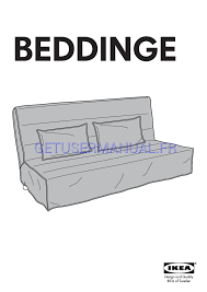 read ikea beddinge sofa bed cover assembly instruction