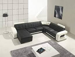 black modern couches. Contemporary Modern Modern Furniture VIG T139  Black And White Leather Sectional Sofa Inside Couches