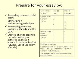 chapter to what extent do different economic systems affect prepare for your essay by re reading notes on social essay