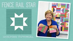 Make a Fence Rail Star Quilt with Jenny! - YouTube & Make a Fence Rail Star Quilt with Jenny! Adamdwight.com