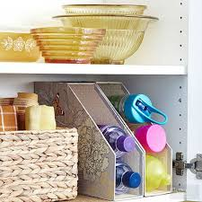 Magazine Holder Uses Awesome 32 Genius Ways To Organize Your Kitchen Cabinets The Krazy Coupon Lady