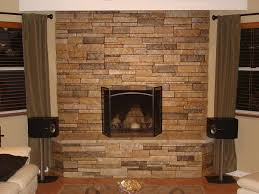 Stacked Stone Veneer Fireplace Pictures Pics Story Family Room Stacked Stone Veneer Fireplace