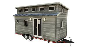 Cider Box Tiny House Plans   PADtinyhouses com Foot House Rendered With Economic Finishes