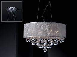 elegant andromeda chrome and glass drum ceiling shade by schuller