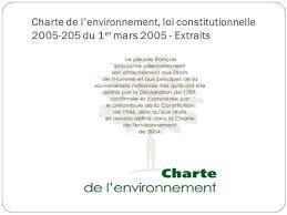 La Charte De Lenvironnement Connaissez Vous Fous De Toc