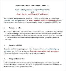 Memorandum Of Understanding Template Classy Memorandum Of Agreement Template Draft With University Memorandum Of