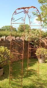 scrolled garden arches