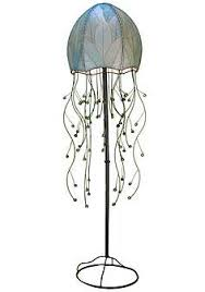 tropical table lamps. Eangee Jellyfish Blue Cocoa Leaves 64 Tropical Table Lamps D