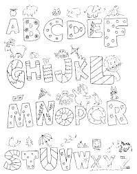 Free Printable Alphabet Coloring Pages Az A Z Good With Additional