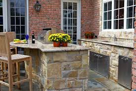 Outdoor Kitchen Countertop Outdoor Kitchen Designs With Uncovered And Covered Style Helping