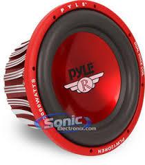 pyle plw12dren 12 dual 4 ohms red label series car subwoofer pyle plw12dren