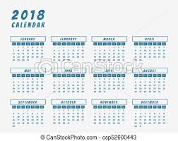 calender outline year 2018 calendar outline design calendar for year 2018 eps