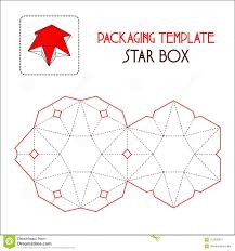 Template For A Star Star Box Packaging Template Vector Stock Illustration Illustration
