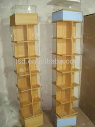 Wooden Book Stand For Display Tsdw100 Custom Free Standing Rotating Mdf Wooden Book Display 16