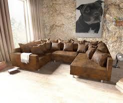 Couch Clovis Braun Antik Optik Mit Armlehne Wohnlandschaft