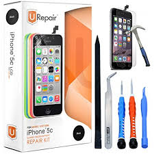 iphone repair kit. iphone 5c screen replacement - black lcd premium complete repair kit with tools easy iphone 1