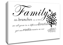 Canvas Wall Art Quotes Enchanting Family Like Branches On A Tree White Text Quotes Canvas Stretched Canvas