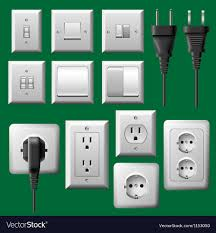 Wall Outlet With Light Power Outlet Light Switch And Electrical Plug Set