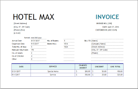 hotel bill hotel invoice template excel invoice templates hotels com vat