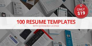 Extended Resume Template 100 Resume Templates With Extended License Only 19