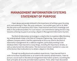 Examples Of Statement Of Purpose I Want To Apply For An Ms In Management Information Systems