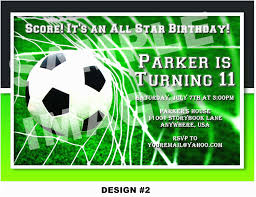 Soccer Party Invitations Soccer Birthday Invitations Soccer Themed Birthday Party Invitations