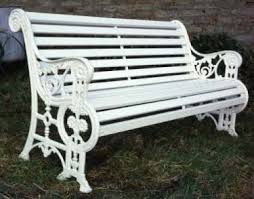 white iron garden furniture.  garden victorian cast iron and timber bench from lost art featuring sunflower  motifs in teh in white iron garden furniture r