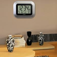 digital office wall clocks digital. Amazon.com: La Crosse Technology WT-8005U-S Atomic Digital Wall Clock With Indoor Temperature, Silver: Home \u0026 Kitchen Office Clocks P