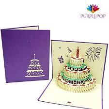 Amazoncom Purplepop Pop Up 3d Happy Birthday 3d Card With