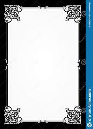Menu Card Template Restaurant Menu Card Frame Template Stock Vector