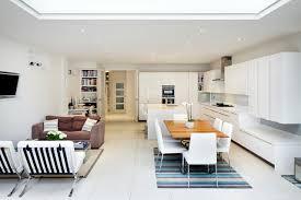 Contemporary Open Concept Kitchen Designs   Trendy Galley Open Concept  Kitchen Photo In London With Flat