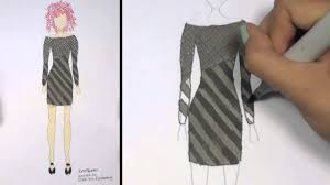 How To Draw Clothes For Beginners Fashion Designing Black And Grey Mini Dress Kt