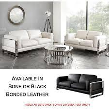 2pc set leather sofa loveseat
