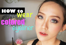 makeup tutorial how to wear colored eyeliner