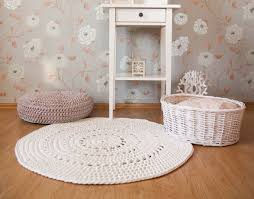 modern nursery rugs brown color rectangle pink fur rug blue white stripped mattress white painted bookcase