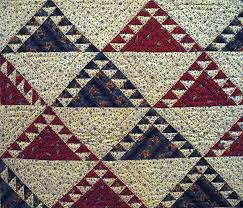 Studio and Garden: Pattern: Quilts at the Brooklyn Museum & Delectable Mountains Quilt, ca. 1850; cotton. Adamdwight.com