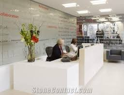 Front Office Designs Delectable Artificial Marble Stone Office Two Person Front Desk Reception Desk