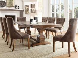 Marie Louise Dining Room Set in Weathered Oak Finish Dinnig Table Side  Chairs by Homelegance 2526